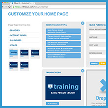 Customizable Home Page